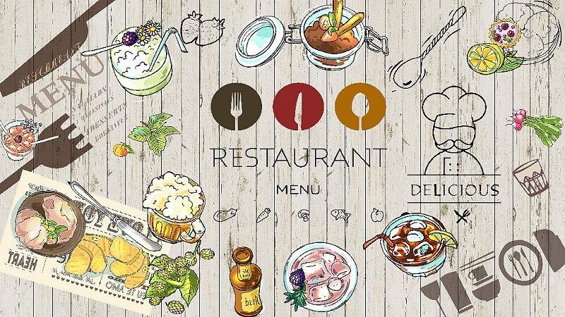 Tranh dán tường món ăn nhà hàng MH-001