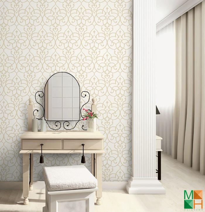 Giấy dán tường phòng ngủ cổ điển đẹp